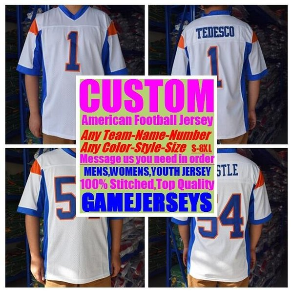 top popular Custom american football jerseys college cheap authentic color rush sports jersey stitched mens womens youth kids 4xl 5xl 6xl 7xl 8xl shirts 2019