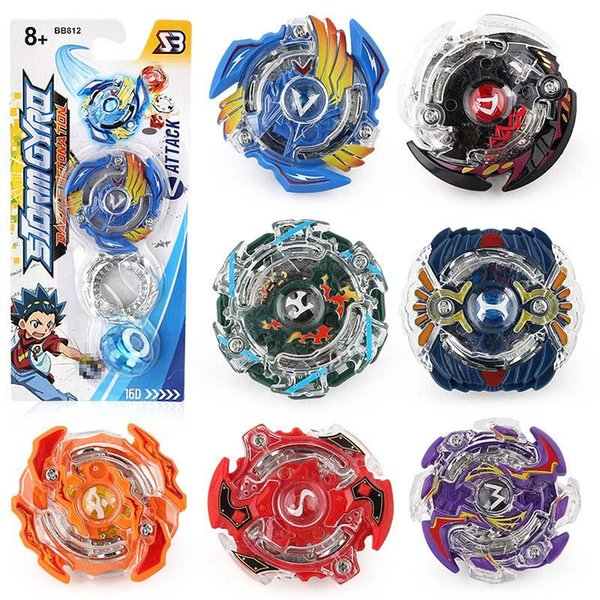 top popular BB812 8 Stlyes Beyblade Burst New Spinning Top Beyblade And Original Box Metal Plastic Fusion 4D Gift Toys For Kids 2019