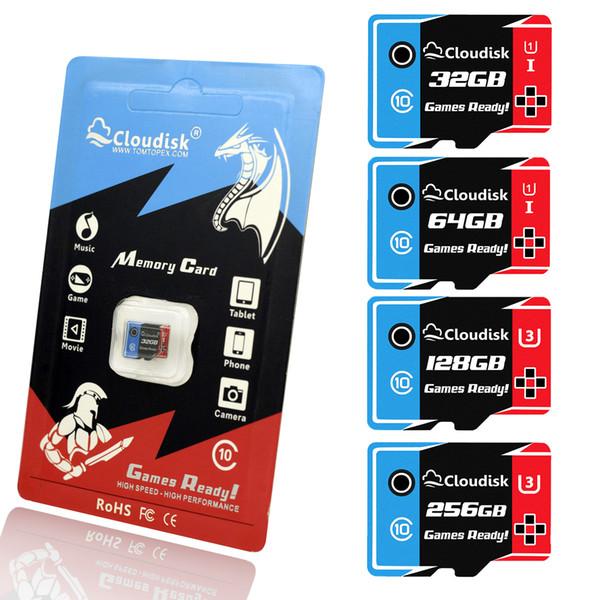 Cloudisk Oyunları Hazır Microsd Hafıza Kartları 256GB 128GB 64GB 32GB Micro sd kart U3 U1 Sınıf10 Yüksek Hızlı 5-Yıl Garanti