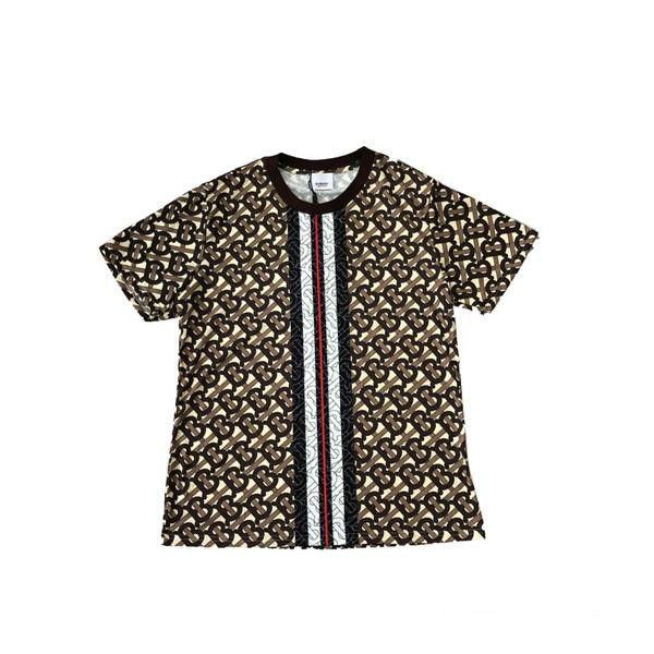 19ss New Arrival Paris BBR Full Printing Tshirts Crewneck Short Sleeve Summer Tee Breathable Vest Shirt Streetwear Outdoor T-shirt