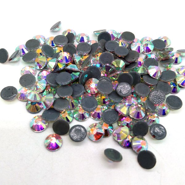 Queenme SS6-SS30 Crystal DMC HotFix Rhinestone Flatback Glass Hot Fix Rhinestones Iron on Stone For Clothing Decoration