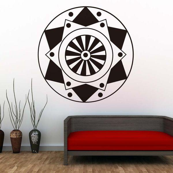 1 Pcs Popular Indian Pattern Wall Stickers Mandalas Flower Adhesive Vinyl Art Wall Decals Home Decor Self Adhesive Wallpaper