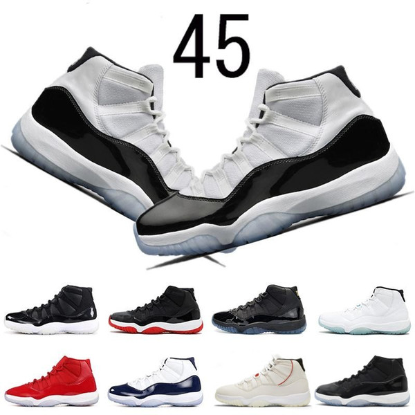 Concord 45 11 11s Basketball Shoes for mens Platinum Tint CAP AND GOWN ROSE GOLD GAMMA BLUE Bred men women sports sneakers