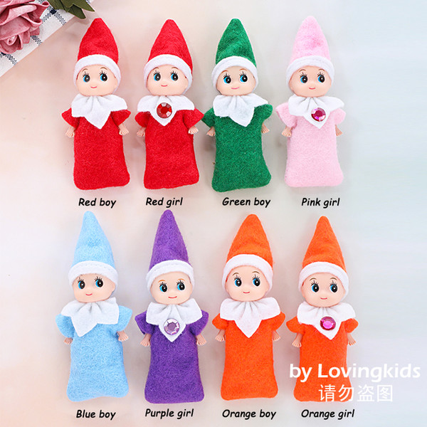 top popular Free DHL 100 PCS Christmas New Year Gifts Baby Elf Doll Toy Baby Elves Dolls Childrens Toys Baby Mini Doll 8 Colors In Stock 2020