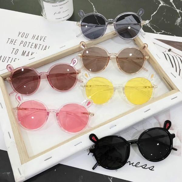 Children sunglass 2019 fashion girls stereo rabbit ear sunglasses baby boys cartoon sunblock accessories kids beach sunglasses F3365