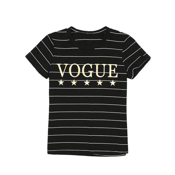 Zebra Print VOGUE Slogan T-Shirt New Ladies Women Basic Summer Short Sleeve  Top
