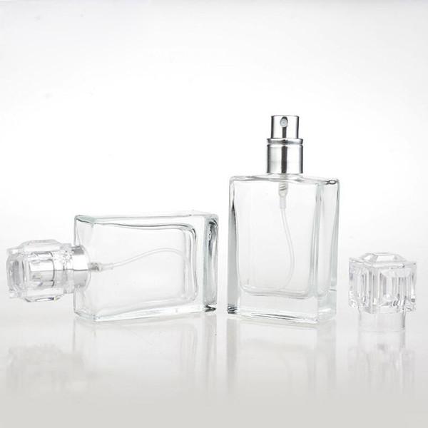 30 ml Cam Parfüm Şişeleri Taşınabilir Doldurulabilir Boş Temizle Sprey Şişe 1 OZ Alt Şişe Hottest Satış Cam Sprey Şişe