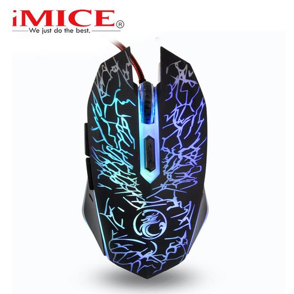 imice x5 Wired Mouse USB-Gamermaus 6 Tasten 3600 dpi Magic Mice Optisches LED-Spiel für den Desktop-Heimgebrauch
