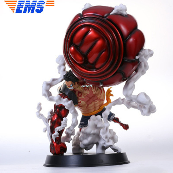 2019 One Piece Gk Monkey D Luffy Gear Fourth Ape King Gun Creative Art Craft Full Length Portrait Pvc Action Collectible Model Toy 50cm Box G428 From