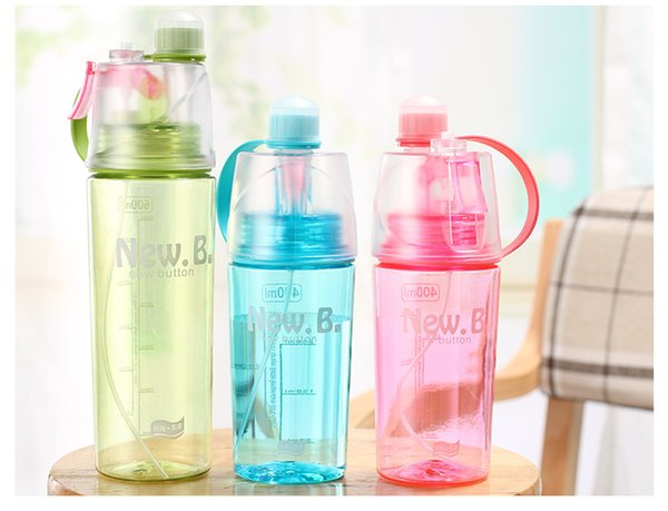 BPA Free Sports Water Drinking Cooling Bottle S.B.T 600ML Portable Summer Outdoor Exercise Plastic Sprayer Jug Best Gym Drinking Bottles