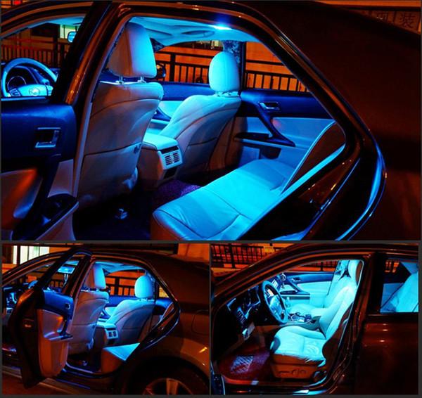5 adet Araba evrensel Hata Ücretsiz Oto LED Ampuller Araba İç Aydınlatma Kiti aksesuarları IÇIN Beyaz Okuma Lambası İç Işıklar