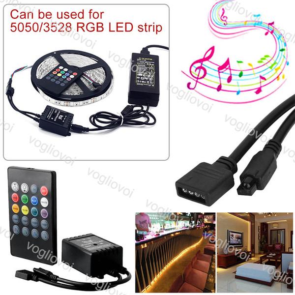 Music Voice Sensor 20 Touches Contrôleur Son Télécommande IR Pratique Home Party RGB 3528 5050 LED Bande lumineuse Contrôleurs RGB DHL