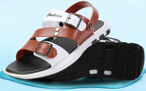 Горячая распродажа бесплатная доставка летние повседневные сандалии мужчины пляжная обувь сплошной цвет на открытом воздухе нескользящие сандалии 005