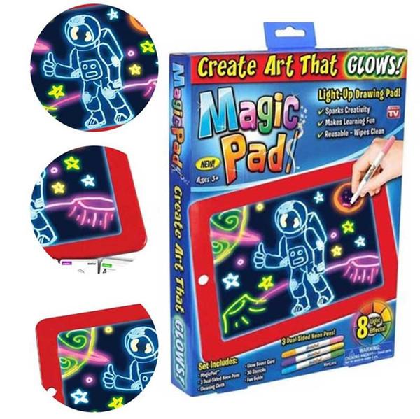 3D Magic Drawing Pad Детский Логические Настольные 3D Art Board Магия Pad Создание Art Light Up Drawing Pad Дети игрушки