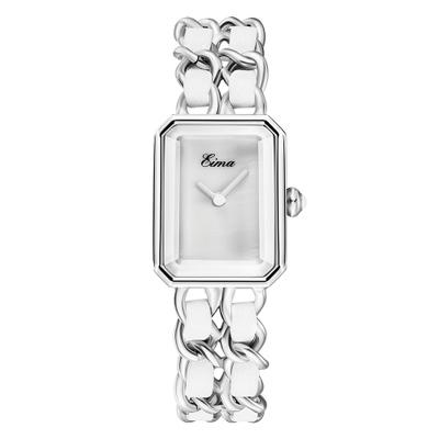 6 Silver white dial