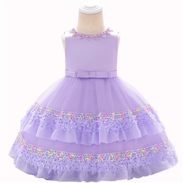 2019 crianças roupas meninas rendas princesa vestido posando vinho vestido de bebê saia de lavagem