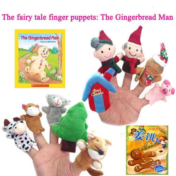 40 конструкций рождественские пальцы Куклы Плюшевые игрушки Санта-Клаус куклы Чучела рождественские символы семьи Пальцы Наборы Родитель-ребенок игрушки