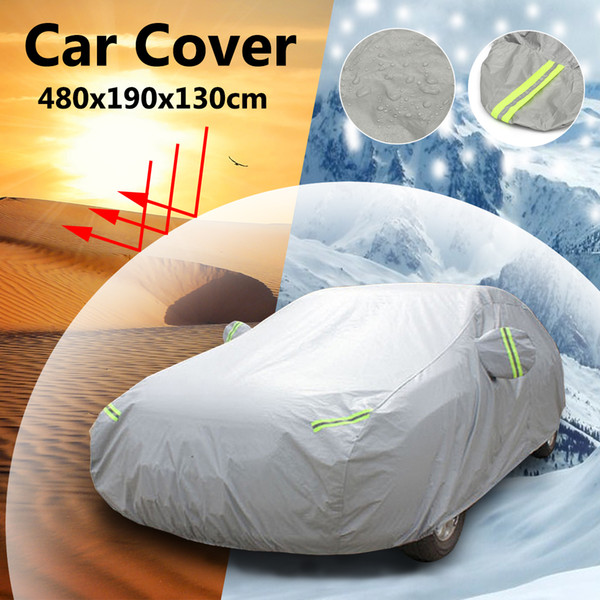 best selling Universal M XL Full Car Cover Snow Ice UV Resistant Protection Sun Dustproof Water Rain Proof with Reflector