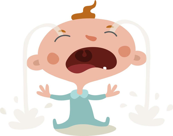 Cartoon Art Baby Crying,Oil Painting Reproduction High Quality Giclee Print on Canvas Modern Home Art Decor