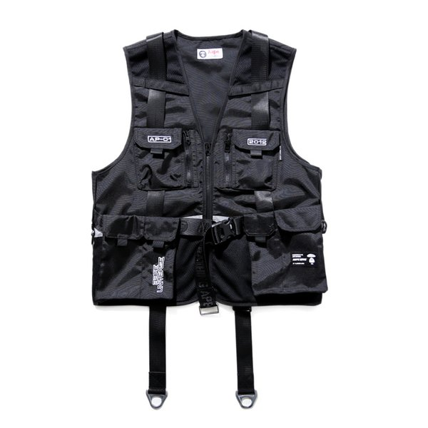 19SS Luxury European Letter Embroidered Printed Waistcoat Fashion High Quality Black Vest Couple Women Mens Designer Jacket HFYYMJ002