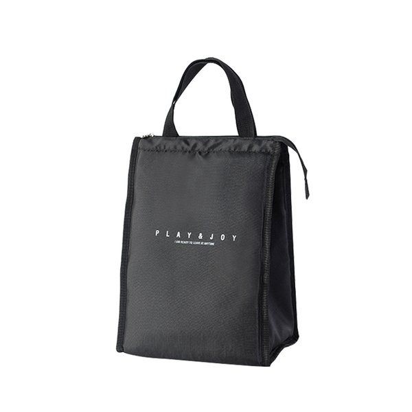 Black Thermal Lunch Bag Portable Cooler Insulated Picnic Bento Tote Travel Fruit Drink Food Fresh Organizer Accessories Supplies C19041601