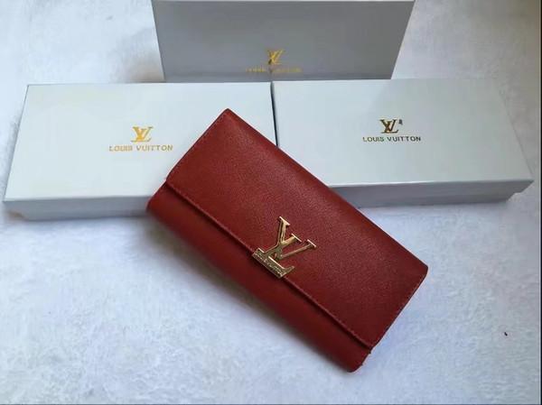 2019 nuove donne portafoglio lunga cerniera borsa a tracolla grande capacità moda portafoglio donna lychee modello Giappone e Corea del sud borsa del telefono mobile