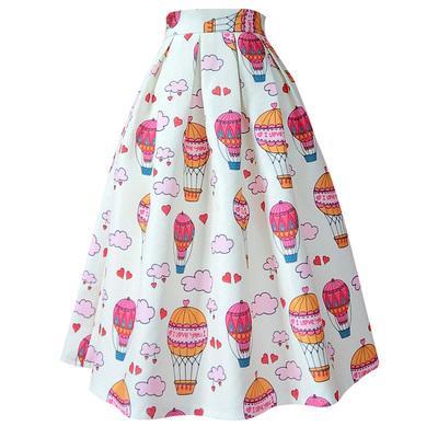20190722 cintura alta e tamanho grande saia Pengpang pode ser personalizado meia saia branca