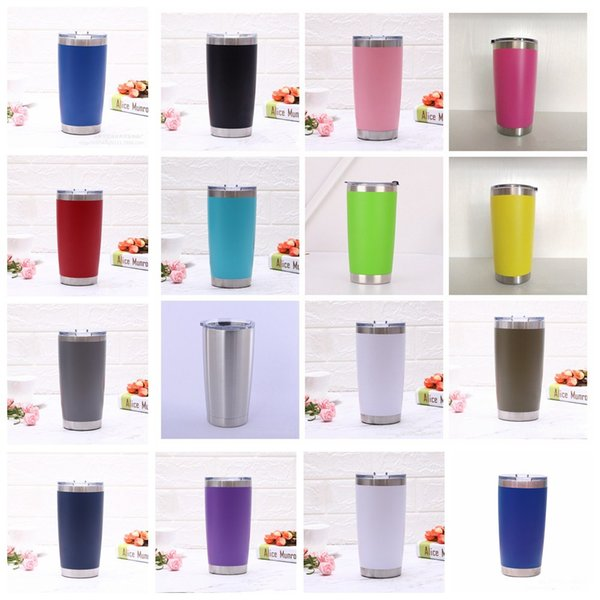 16styles 20oz stainless steel Insulated Mug Travel Water Bottle Beer Coffee Mugs with Lid for Car Cups Coffee cup Drinkware supply FFA2188-1