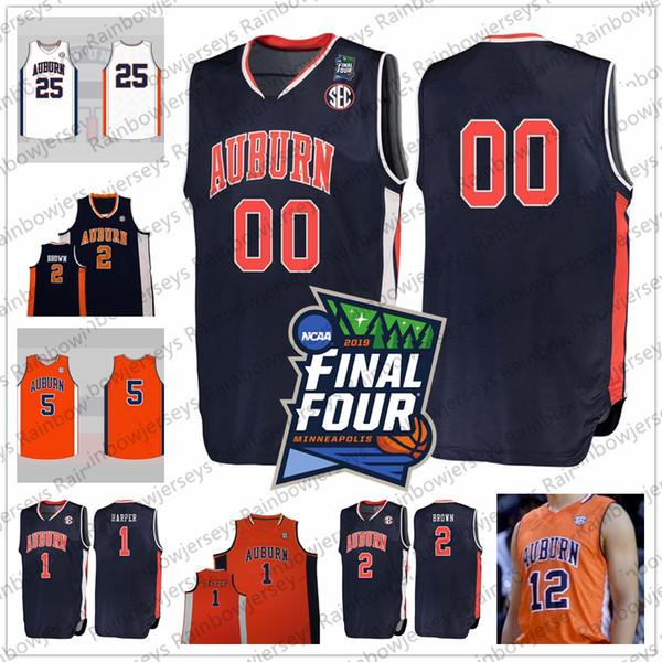 Custom 2019 Final Four Tigers College Basketball Jersey Any Name Number 1 Jared Harper 2 Bryce Brown 3 Danjel Purifoy 5 Chuma Okeke S-4XL