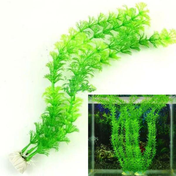 Simulazione acqua pianta acquatica erba vanigliata acquari acquario serbatoio decorazioni paesaggistiche erba artificiale pet forniture plastica WX9-1259