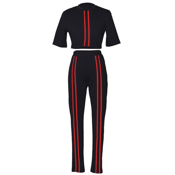 2019 Fashion brand Joggers Pants TWO PIECE SET Tracksuit Track Suits Leisure Sweatsuits For Women Clothing Costumes Spring Tops + pants
