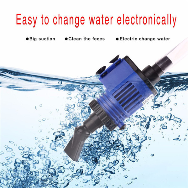Automatic Aquarium Water Changer Clean Vacuum Water Change Gravel Pump Fish Feces Siphon Sand Washer Filter Fish Tank Cleaner