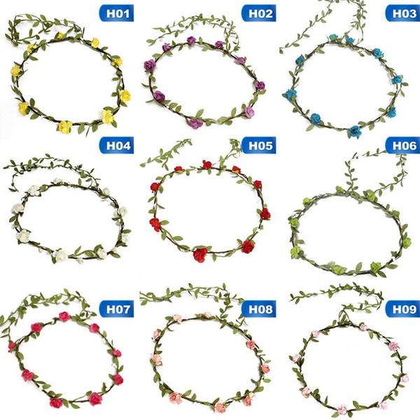 Bridesmaid Artificial Flower Head Wreath For Hair Floral Headband Hair Accessories Flower Crown