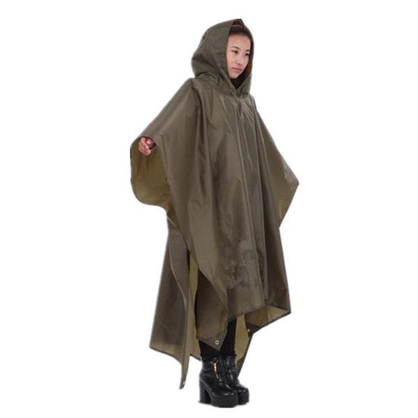 Travel Portable Triple Raincoat Women Men Poncho Outdoor Hiking Fishing Mountaineering Cycling Versatile Chubasquero Q190603