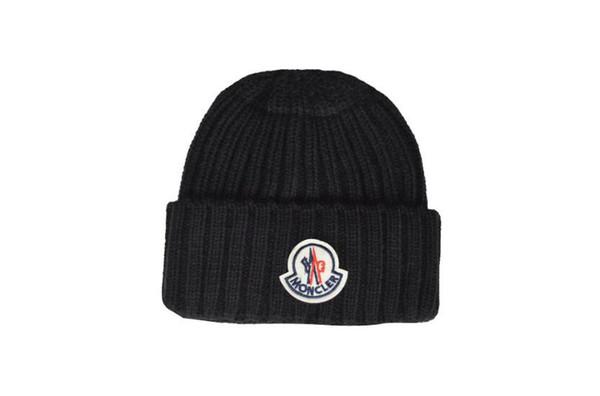New France fashion mens designers hats bonnet winter beanie knitted wool hat plus velvet cap skullies Thicker mask Fringe beanies hats man