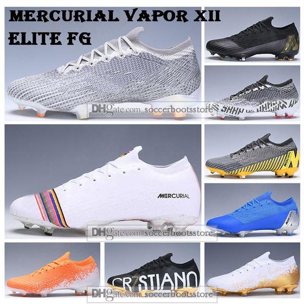 Yeni Erkek Düşük Bilek Futbol Boots Zafer Paketi Mercurial Buharı XII Elite FG Futbol Ayakkabı Ronaldo CR7 Superfly 360 Neymar ACC Futbol Profilli
