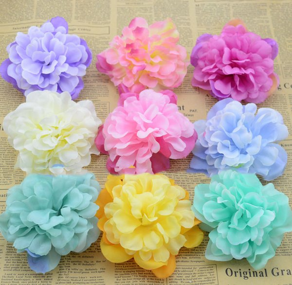 Decorations Artificial Dried The new simulation dahlia peony flowers diy handmade corsage silk flower head cap