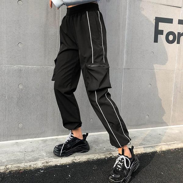 Womens Designer Pants 2019 New Autumn Fashion Pantalon de luxe pour femmes Hot Brand Loose Sport Pantalons pour femmes avec beaucoup de poches en gros S-L
