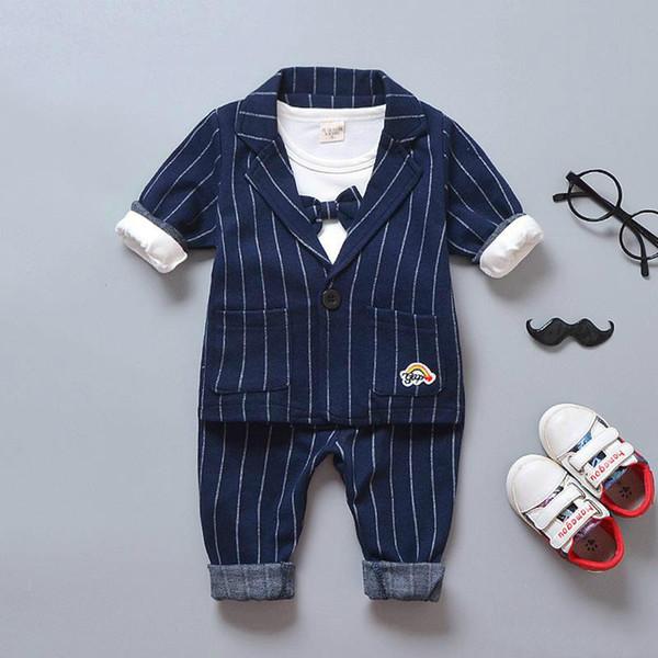 결혼식 생일 파티면 코트 + 셔츠 + 바지 유아 소년 outifits 세트 BibiCola 가을 아기 옷 신사 정장