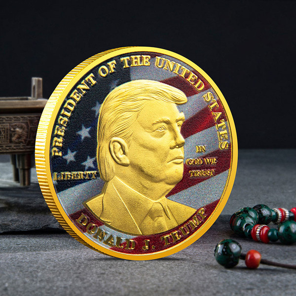 top popular American 45th President Donald Trump Commemorative Coin the United States 2020 President Election Metal Badge 2021