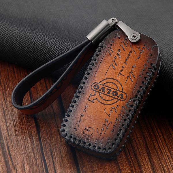 Genuine Leather Car Key Cover For Volvo XC60 XC90 S90 S60L S80 V60 V40 XC40