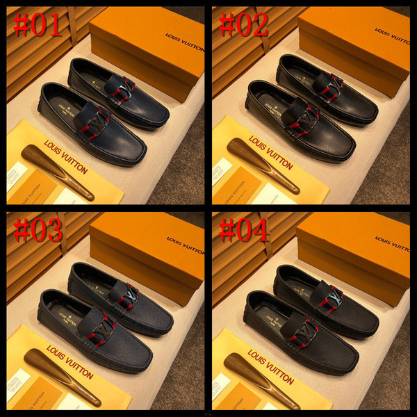 20MC Men Business red wedding Shoes Luxury brands Dress Loafers Pointed Sequins Single Shoes Slip-On Leather Shoes we sell designers runnings shoes basketball shoes casual shoes mens women trainers designers shoes retail and wholesale price accepted pls contact seller for more pictures