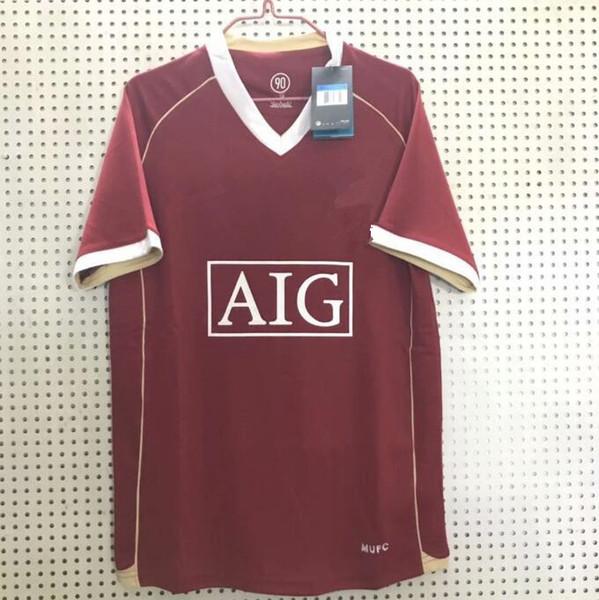 2007 08 Retro Futebol Uniforme POGBA MARCIAL Alexis Lingard Camisas de Futebol Do Vintage T camisa de Futebol 2006 Retro Futebol Jersey
