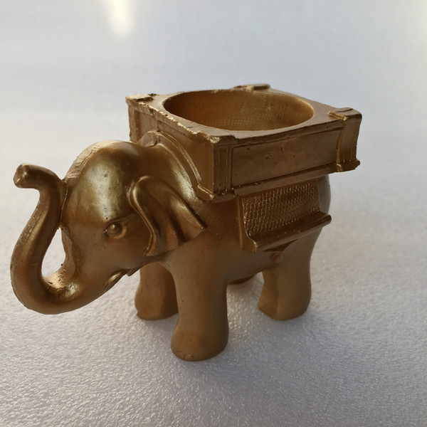 Resign Gold Lucky Elephant Candle Holder 50th 60th Anniversary Birthday Party Favors Wedding Return Gifts Wholesale Budget Wedding Favors Canada