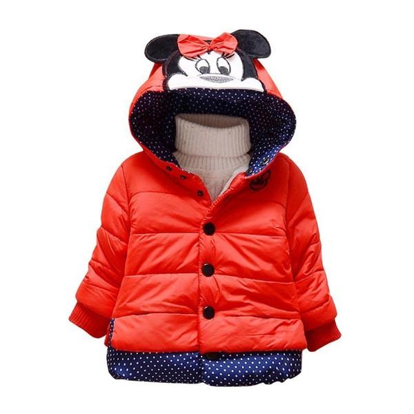 New Fashion Brand Children Girls Cute Coats Toddler Jacket Kids Winter Thick Warm Down Baby Cartoon Outwear Clothes