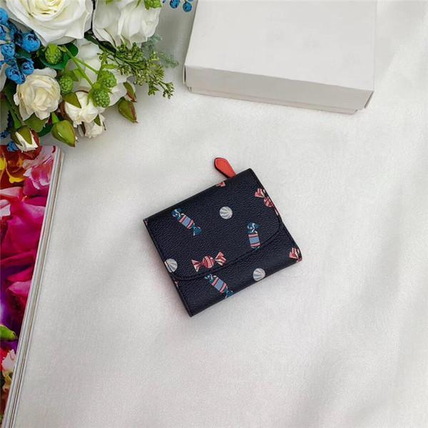 Moda muticolor mulheres designer carteira curta de Couro de Alta Qualidade de luxo Carteiras curtas para mulheres Homens Moeda bolsa Titular do cartão B100523W