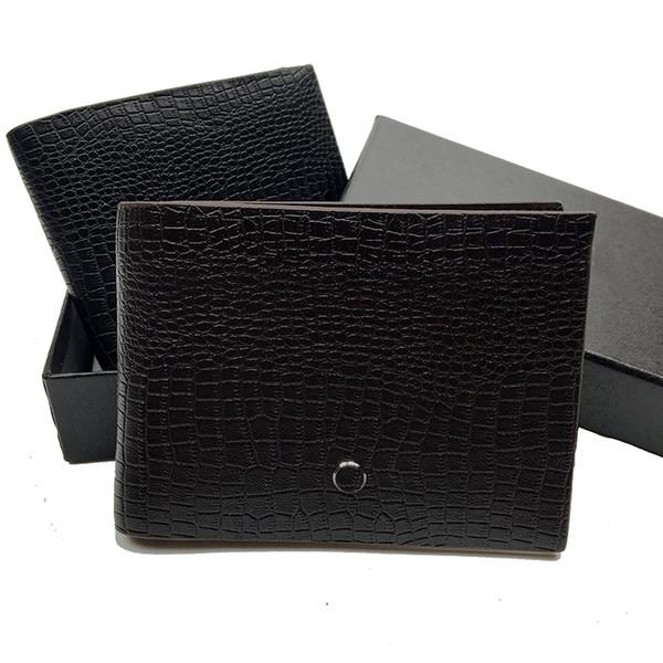 Luxury fashion men's leather short clip wallet designer wallet credit card holder pocket photo gift free shipping premium box dust bag