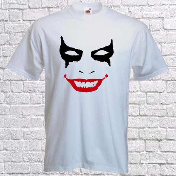 Хэллоуин футболка-Джокер лицо-Хеллоуин костюм-страшно tee T-mens с коротким рукавом Tee смешные бесплатная доставка мужская футболка топ
