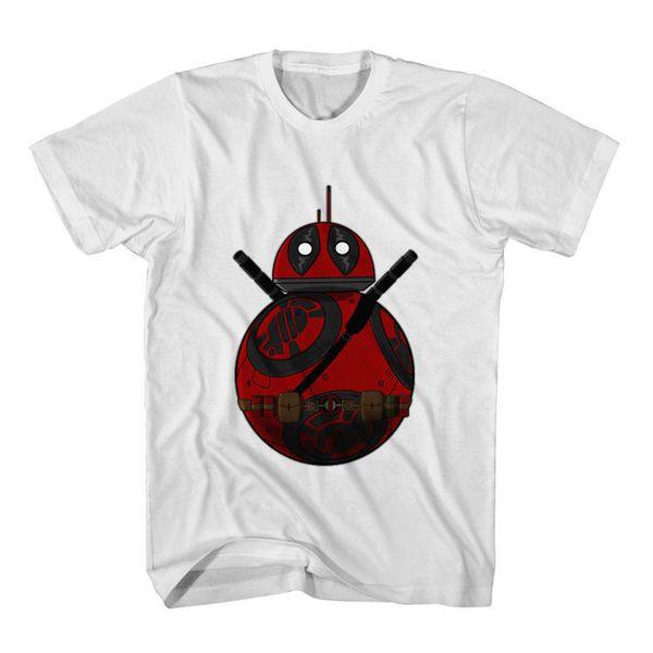 Новая футболка с надписью Deadpool BB-8 Droid Пародия Мужская футболка