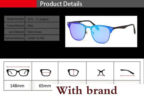 New Quailty est sale Les lunettes de soleil en aluminium et magnésium Hommes Femmes conçoivent des lunettes de sport Mirror Eyewear avec Etui et étiquette